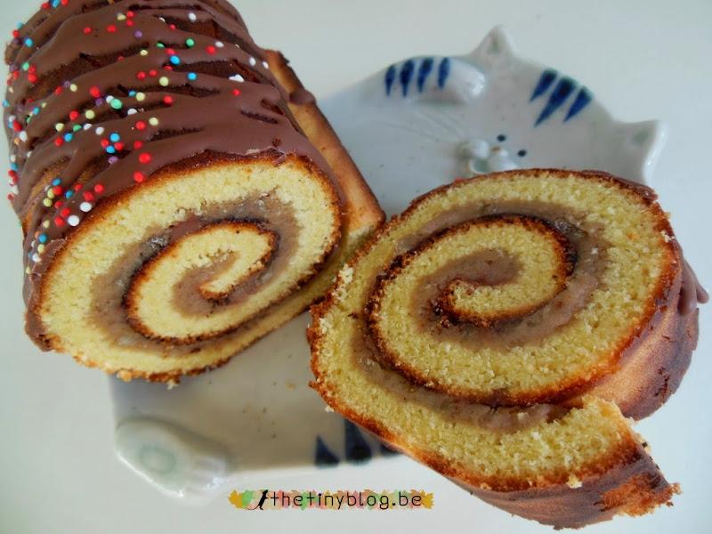 Roll Cake with Crème de Marrons