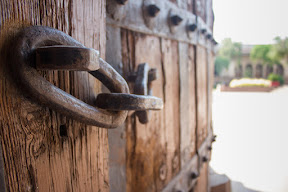 An old lock on a door