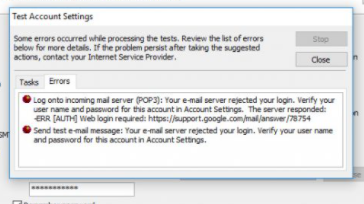 """Cách khắc phục lỗi Email outlook """"Log onto incoming mail server (POP3)"""" - 78754"""