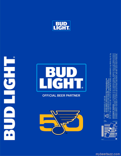 Hereu0027s The St Louis Blues Hockey Commemorative 16oz Aluminum Bottle Coming  From Bud Light. This Beer Remains At 4.2% AbV And 110 Calories Per 12oz  Serving.
