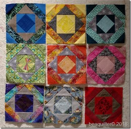 mosaic block rainbow