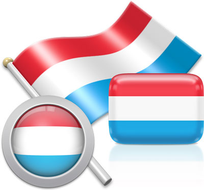 Luxembourgish flag icons pictures collection