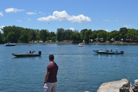Lots of people fishing