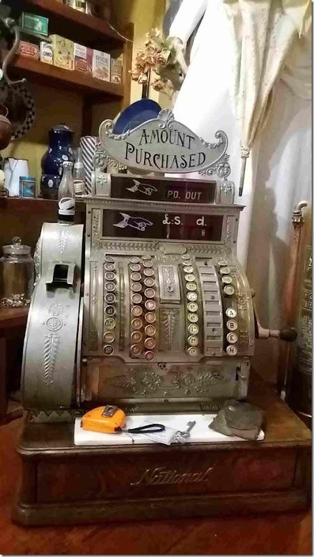 small old cash till