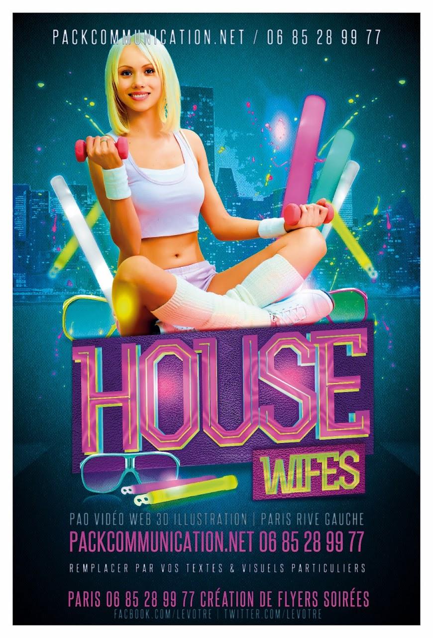 création flyers soirées thème House Wifes
