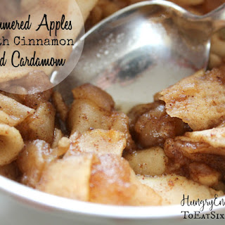 Simmered Apples with Cinnamon & Cardamom.