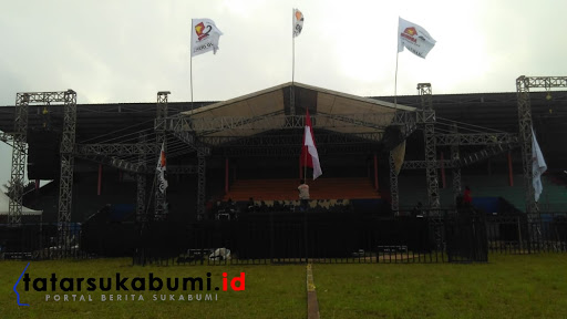 Stadion Suryakencana Sukabumi titik awal Jalan Sehat bersama Prabowo // Foto : Rapik Utama