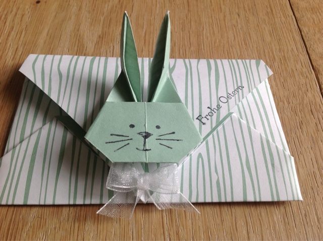 Stampin up Kuvert Hase