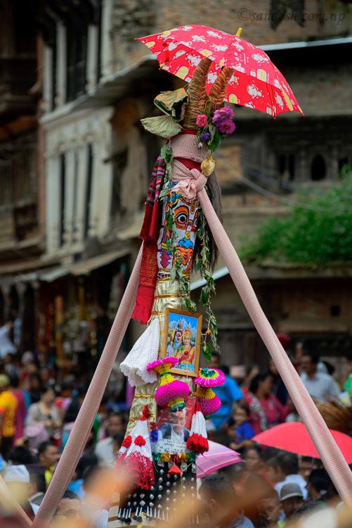 A chariot during Gai Jatra in bhaktapur