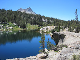 Booth Lake. Vogelsang peak in the background.
