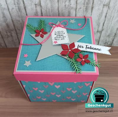 Geschenkbox Explosionsbox Überraschungsbox  Fotoshooting Gutschein