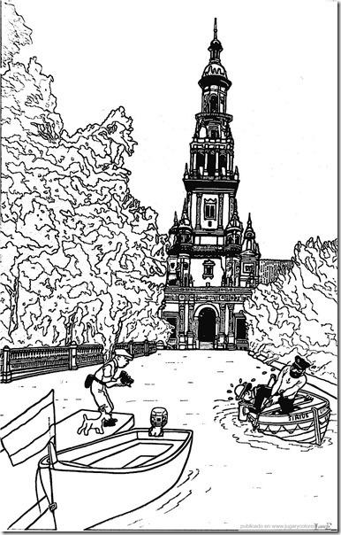 Plaza de España de Sevilla_15de jugarycolorear.
