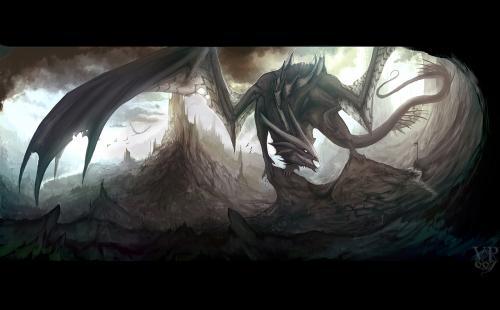 Dark Dragon Lord, Dragons