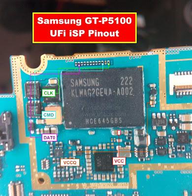 ISP PinOut Samsung GT-P5100
