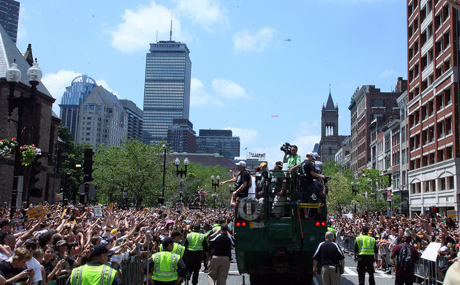 Boston Bruins Stanley Cup parade in downtown Boston, MA