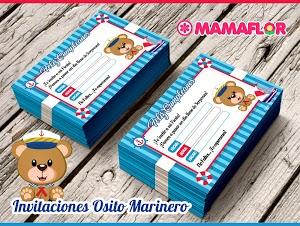 Invitaciones de OSO MARINERO