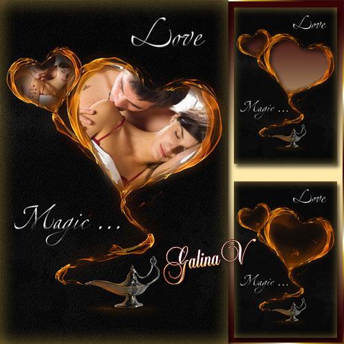 Романтическая фоторамка - Волшебная любовь