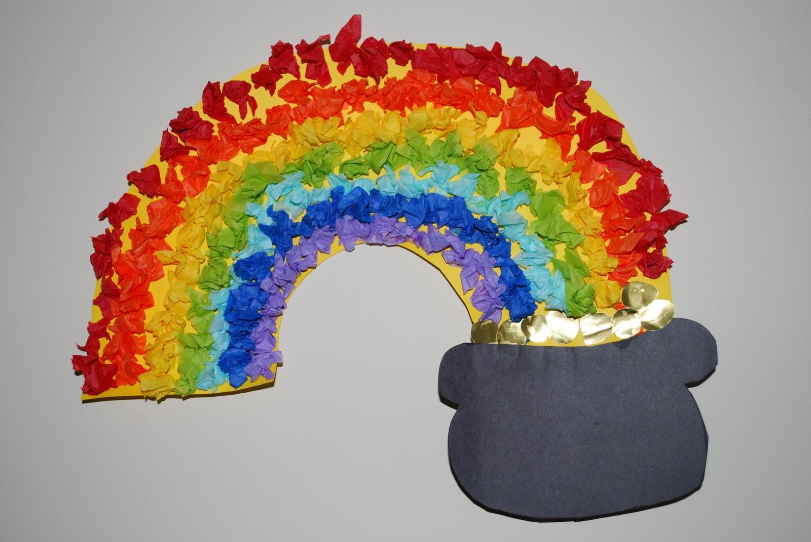 Craptastic Crafts For Kids Tissue Rainbow