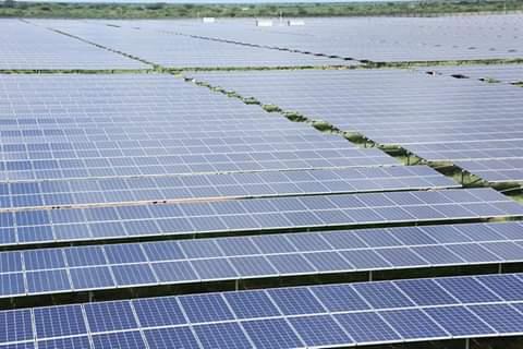 President Uhuru Kenyatta at Garissa opening Largest solar project in East Africa. PHOTO   BNC