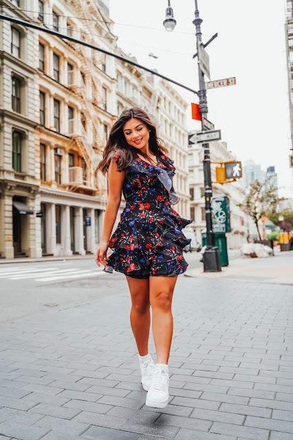 New York Fashion Blogger Kelly Fountain in Soho NYC
