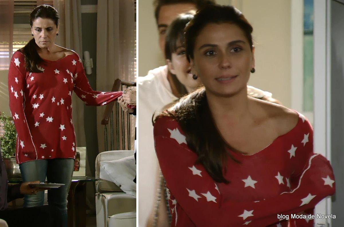 moda da novela Em Família - look da Clara dia 01 de maio