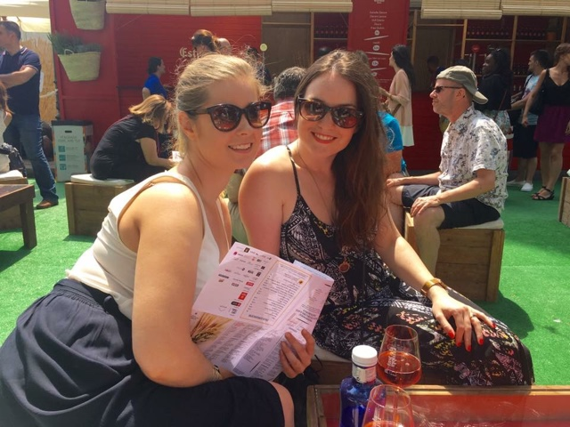 The Bride & The Bridesmaid at the Food Market (Obvs)