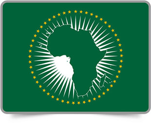 African framed flag icons with box shadow