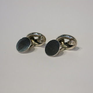 Sterling Silver MMA Knot Cuff Links