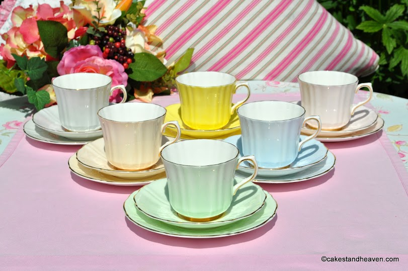 Sampson Smith Vintage China Harlequin Trios