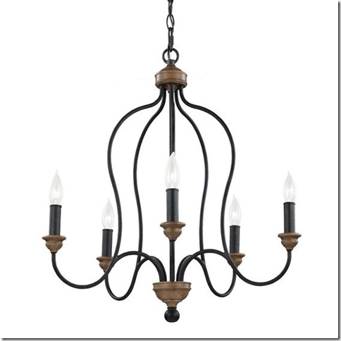 Feiss F2998/5DWZ/WO Hartsville 5 - Light Chandelier