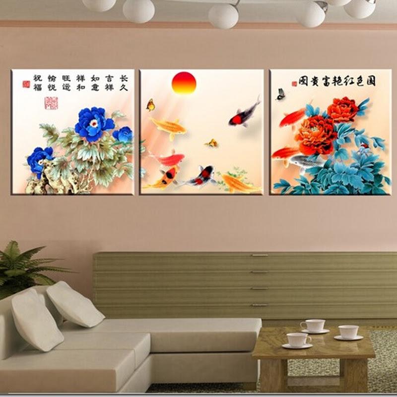 ภาพกรอบลอย ปลาคาร์ฟ เสริม ฮวงจุ้ย มงคล โชคลาภ ความสวยงามแก่บ้าน 13