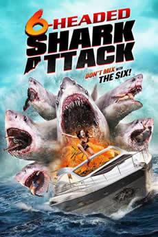 capa O Ataque do Tubarão de 6 Cabeças