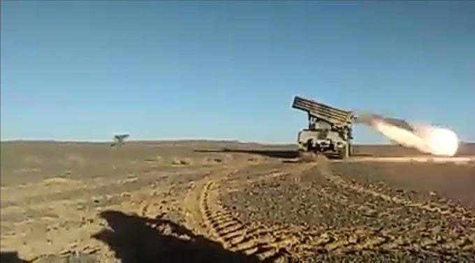 ⭕ VÍDEO | El Ejército Saharaui lanza ataques con misiles contra fuerzas marroquíes en el Sáhara Occidental.