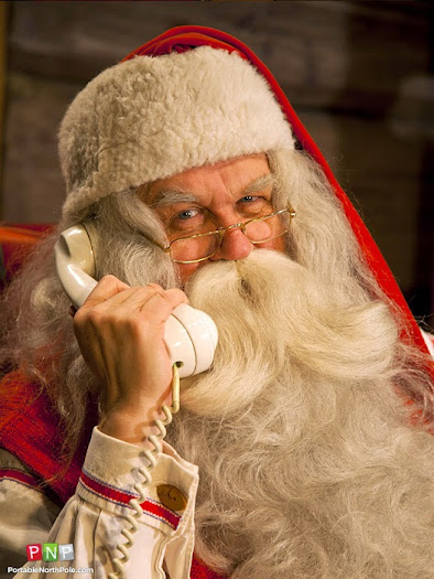 Get a phone call from Santa Claus from Portable North Pole