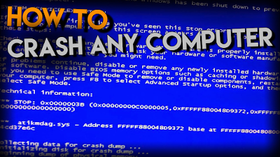 How to crash computer With 1 Simple Click