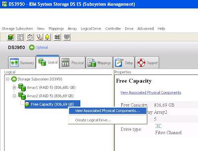 Crear un nuevo Array de discos en una SAN IBM DS3950 con RAID 5