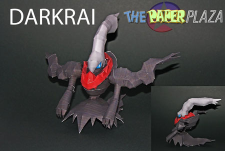 Pokemon Darkrai Papercraft