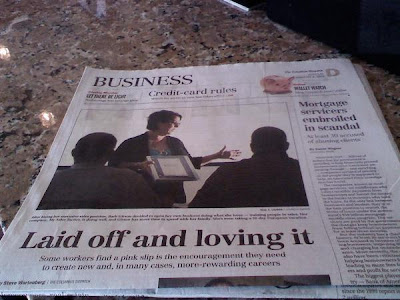 "August 9, 2009, The Columbus Dispatch, Barb Girson profile ""Laid Off and Loving It"" Visit http://www.MySalesTactics.com/Press"