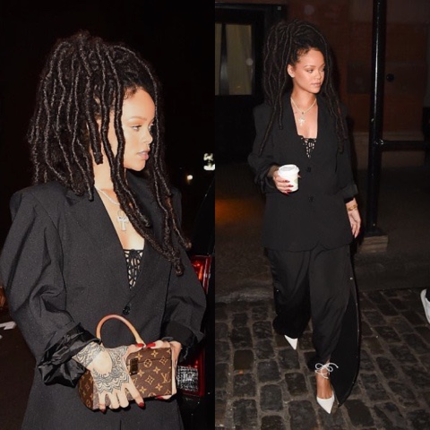 Rihanna wears AW16 FENTY x PUMA in NYC