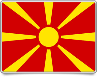 Macedonian framed flag icons with box shadow