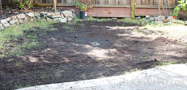 Adding new soil to lawn