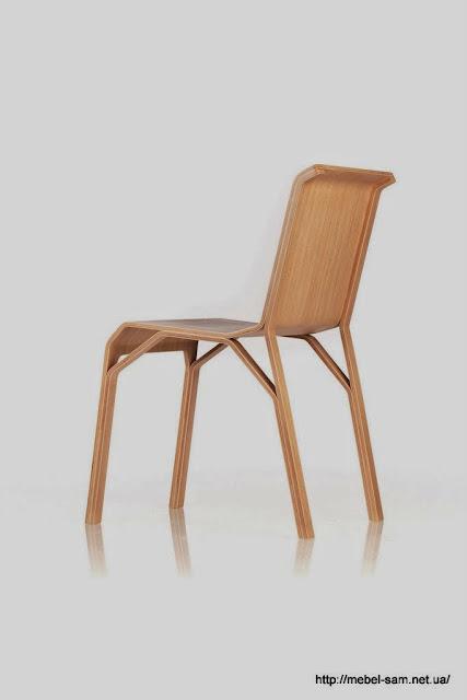 Фанерный стул Trimo Chair - вид сзади