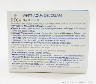 [Review] PIXY Aqua White Series - Night Cream