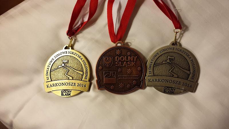 Medale XI Zimowych Igrzysk Polonijnych w Karkonoszach