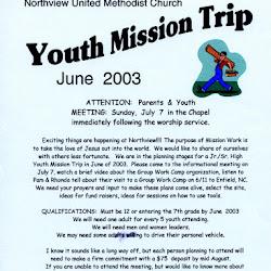 Missions 2003-06 West Branch MI
