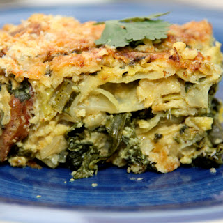 Curried Cabbage & Kale Gratin.
