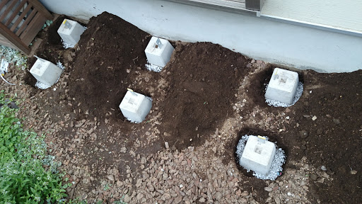[写真]濡れ縁用の土台作り