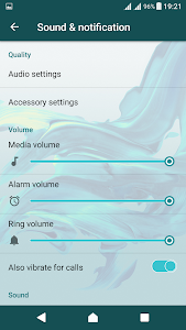 Delight Aqua XZ Theme Xperia screenshot 4