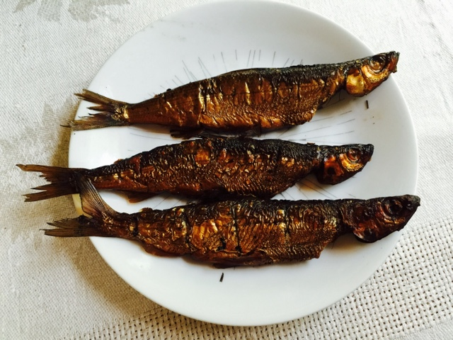 Three Smoked vend ace on a plate