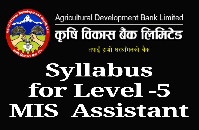 ADBL Syllabus for Level -5 MIS  Assistant